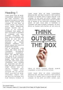 Think Outside the Box Word Template First Inner Page