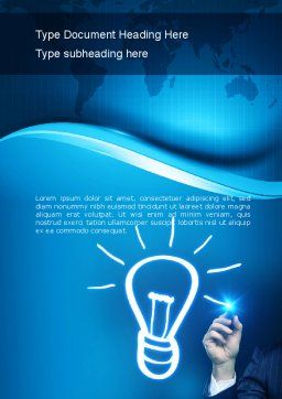 Idea Generation Word Template, Cover Page, 10839, Business Concepts — PoweredTemplate.com