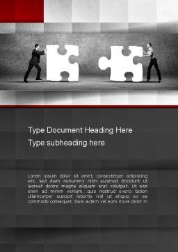 Mediation Word Template, Cover Page, 10843, People — PoweredTemplate.com