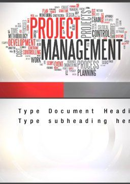 Ingredients of Project Management Word Template Cover Page