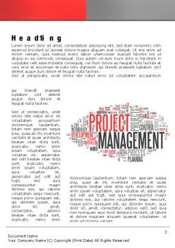 Ingredients of Project Management Word Template First Inner Page