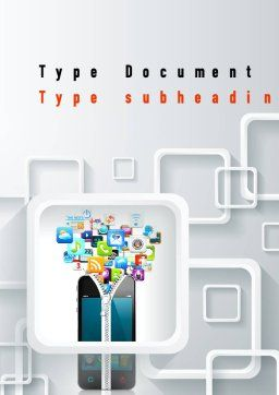 Smartphone Applications Word Template, Cover Page, 10847, Technology, Science & Computers — PoweredTemplate.com