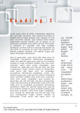 Smartphone Applications Word Template, Second Inner Page, 10847, Technology, Science & Computers — PoweredTemplate.com