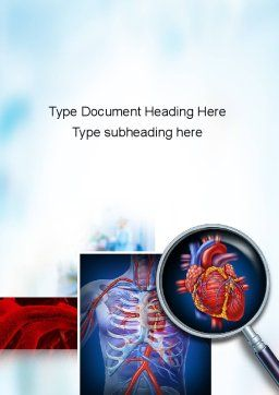 Cardiac Surgery Word Template, Cover Page, 10850, Medical — PoweredTemplate.com