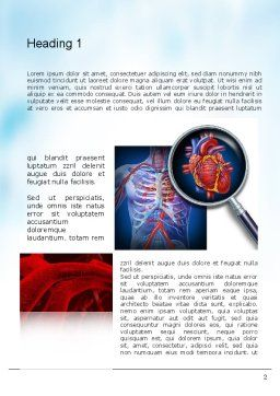 Cardiac Surgery Word Template, First Inner Page, 10850, Medical — PoweredTemplate.com