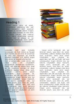 Stack of Folders Word Template, First Inner Page, 10851, Careers/Industry — PoweredTemplate.com