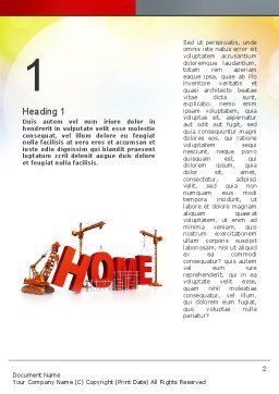 Building Home Concept Word Template, First Inner Page, 10852, Careers/Industry — PoweredTemplate.com
