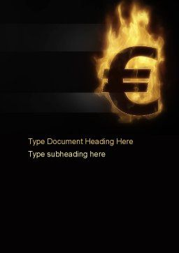 Eurozone Crisis Word Template, Cover Page, 10855, Financial/Accounting — PoweredTemplate.com