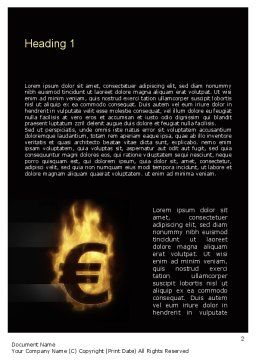 Eurozone Crisis Word Template, First Inner Page, 10855, Financial/Accounting — PoweredTemplate.com