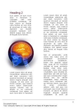 Neurosurgery Word Template, Second Inner Page, 10860, Medical — PoweredTemplate.com