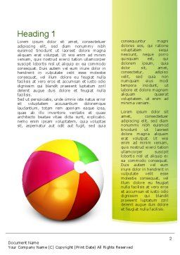 Inflatable Ball Word Template, First Inner Page, 10861, Education & Training — PoweredTemplate.com