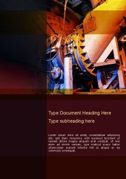 Coal Mixer Word Template, Cover Page, 10865, Utilities/Industrial — PoweredTemplate.com