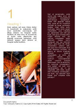 Coal Mixer Word Template, First Inner Page, 10865, Utilities/Industrial — PoweredTemplate.com