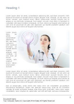 Medical Technology Innovation Word Template, First Inner Page, 10866, Medical — PoweredTemplate.com