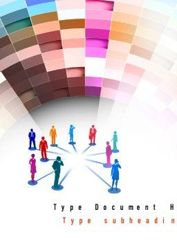 Human Resource Management Word Template, Cover Page, 10867, Careers/Industry — PoweredTemplate.com