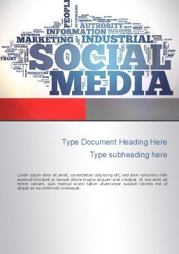 Social Media Word Cloud Word Template, Cover Page, 10871, Careers/Industry — PoweredTemplate.com