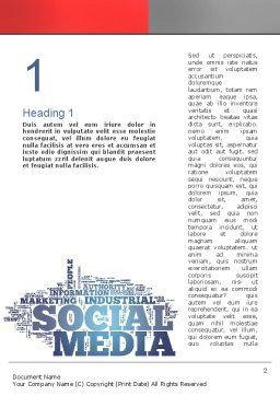 Social Media Word Cloud Word Template, First Inner Page, 10871, Careers/Industry — PoweredTemplate.com