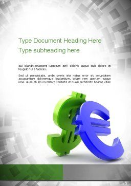 Currency War Word Template, Cover Page, 10873, Financial/Accounting — PoweredTemplate.com