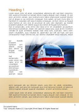 Electric Locomotive Word Template, First Inner Page, 10874, Cars/Transportation — PoweredTemplate.com