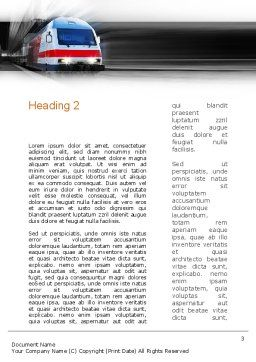 Electric Locomotive Word Template Second Inner Page