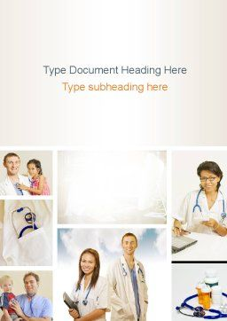 Pediatricians Word Template, Cover Page, 10875, People — PoweredTemplate.com