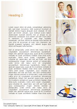 Pediatricians Word Template, Second Inner Page, 10875, People — PoweredTemplate.com