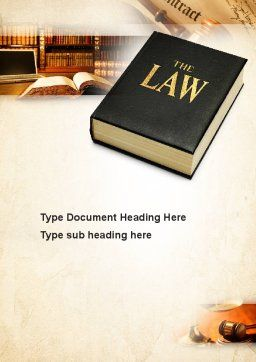Jurisprudence Word Template, Cover Page, 10880, Legal — PoweredTemplate.com