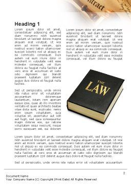 Jurisprudence Word Template, First Inner Page, 10880, Legal — PoweredTemplate.com
