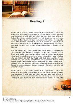 Jurisprudence Word Template, Second Inner Page, 10880, Legal — PoweredTemplate.com