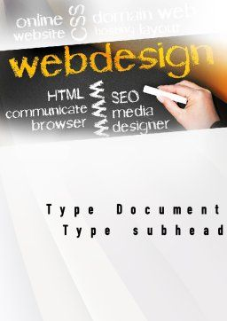 Web Design Word Template Cover Page