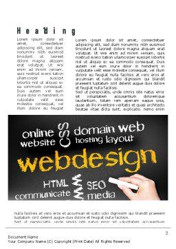 Web Design Word Template First Inner Page
