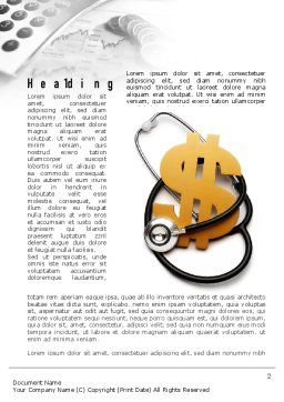 Medical Reform Word Template, First Inner Page, 10882, Financial/Accounting — PoweredTemplate.com