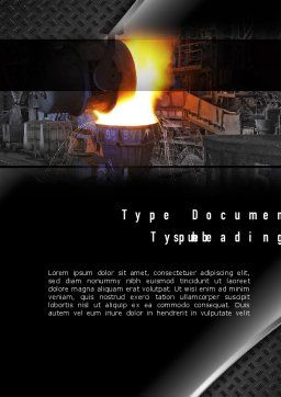 Steel Mill Word Template, Cover Page, 10883, Utilities/Industrial — PoweredTemplate.com