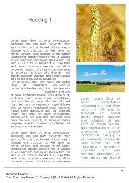 Wheat Cultivation Word Template, First Inner Page, 10884, Agriculture and Animals — PoweredTemplate.com