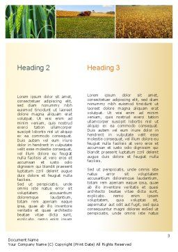 Wheat Cultivation Word Template, Second Inner Page, 10884, Agriculture and Animals — PoweredTemplate.com