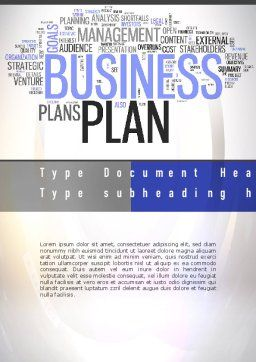 Business Plan Word Cloud Word Template, Cover Page, 10888, Consulting — PoweredTemplate.com