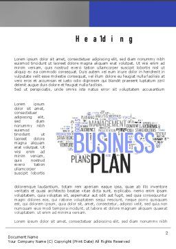 Business Plan Word Cloud Word Template, First Inner Page, 10888, Consulting — PoweredTemplate.com