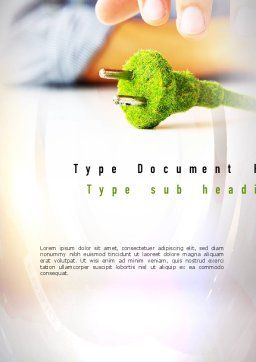 Green Plug Word Template Cover Page