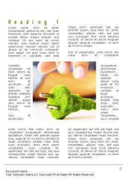 Green Plug Word Template First Inner Page