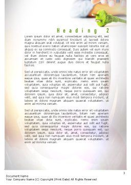 Green Plug Word Template Second Inner Page