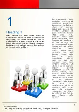 Business People Team Word Template, First Inner Page, 10891, Consulting — PoweredTemplate.com
