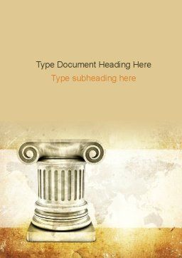 Ionic Column Word Template, Cover Page, 10892, Education & Training — PoweredTemplate.com