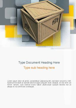 Crate Word Template, Cover Page, 10893, Construction — PoweredTemplate.com