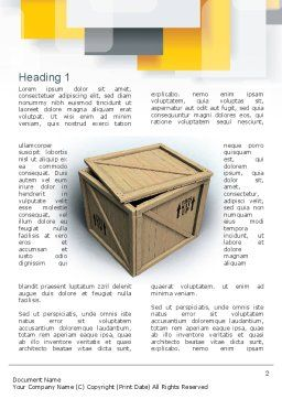 Crate Word Template, First Inner Page, 10893, Construction — PoweredTemplate.com