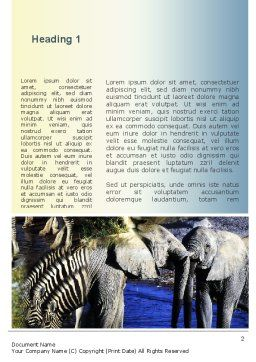 African Fauna Word Template, First Inner Page, 10894, Nature & Environment — PoweredTemplate.com