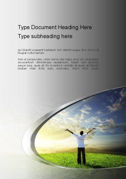 Fear to Fuel Word Template, Cover Page, 10897, Consulting — PoweredTemplate.com