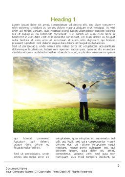 Fear to Fuel Word Template, First Inner Page, 10897, Consulting — PoweredTemplate.com