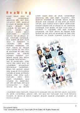 Office Collage Word Template, First Inner Page, 10899, People — PoweredTemplate.com