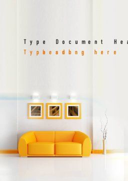 Bright Living Room Word Template Cover Page
