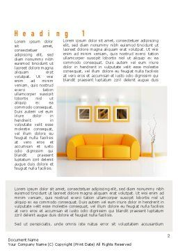 Bright Living Room Word Template First Inner Page